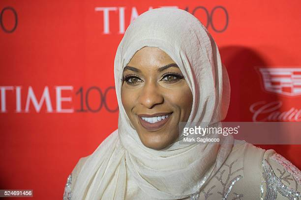 American Sabre Fencer Ibtihaj Muhammad attends the 2016 Time 100 Gala at Frederick P Rose Hall Jazz at Lincoln Center on April 26 2016 in New York...