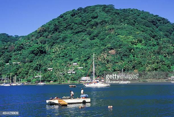 American Samoa Tutuila Pago Pago Harbor Scene