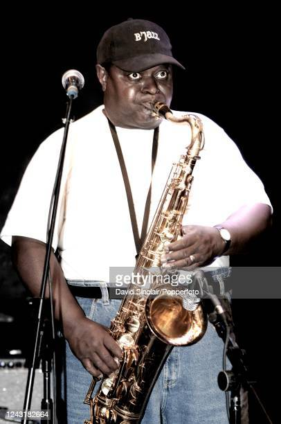 American saxophone player Alfred Pee Wee Ellis performs live on stage at Ronnie Scott's Jazz Club in Soho London on 6th August 2007