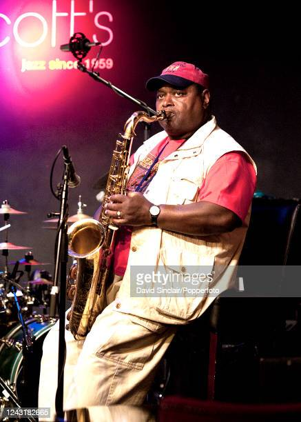 American saxophone player Alfred Pee Wee Ellis performs live on stage at Ronnie Scott's Jazz Club in Soho London on 26th August 2013