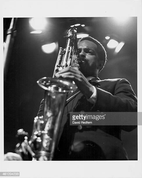 American saxophonist Albert Ayler on stage, 1966.