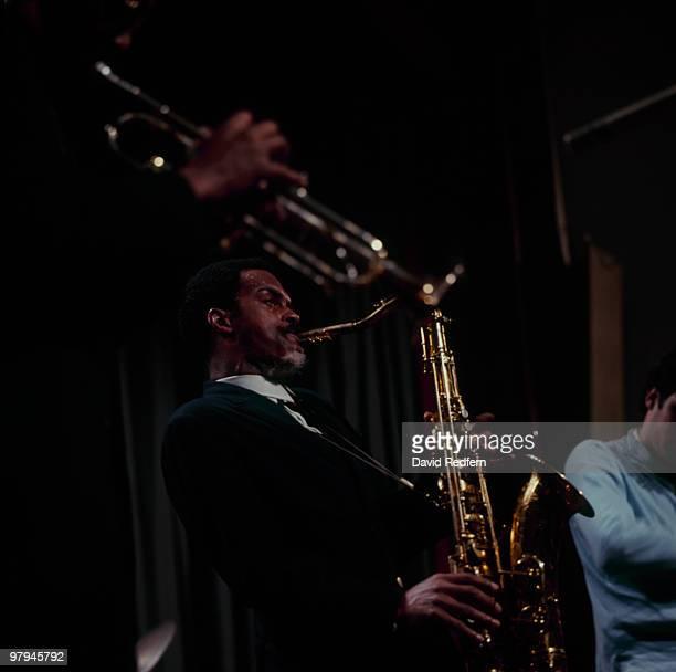American saxophonist Albert Ayler performs on stage in 1966.