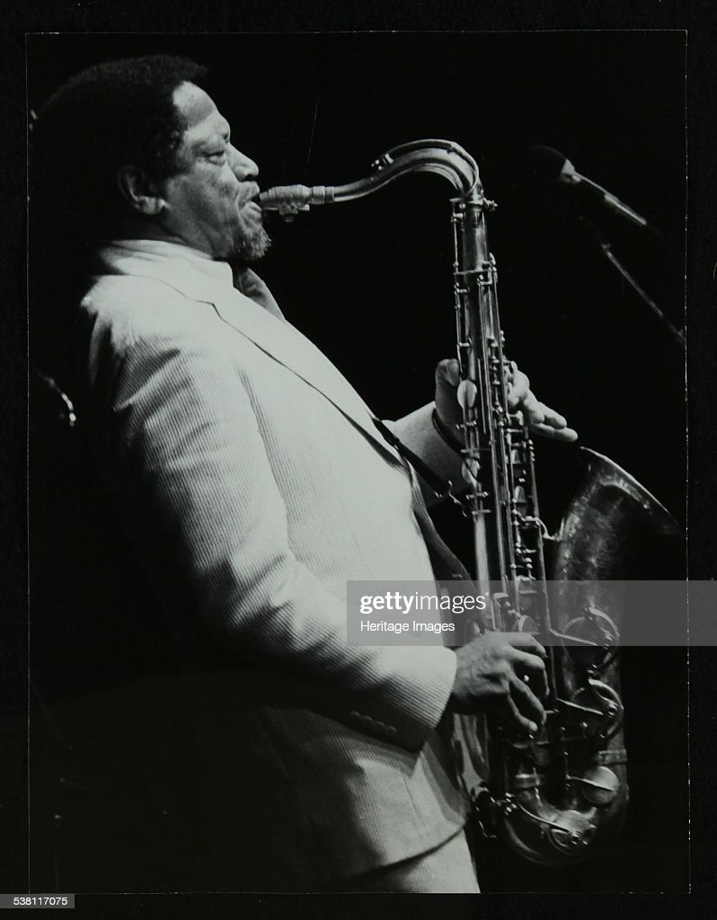 American saxophonist Illinois Jacquet playing at the Capital Radio Jazz Festival, Knebworth, Hertfor . : News Photo