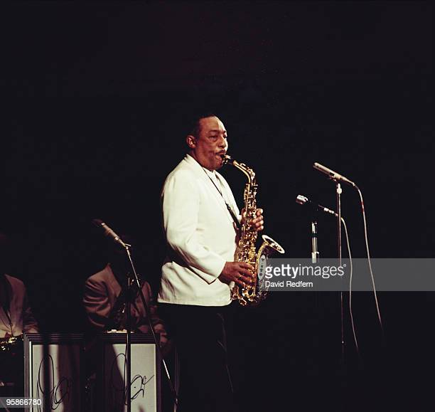 American saxophonist Johnny Hodges performs on stage in the 1960's