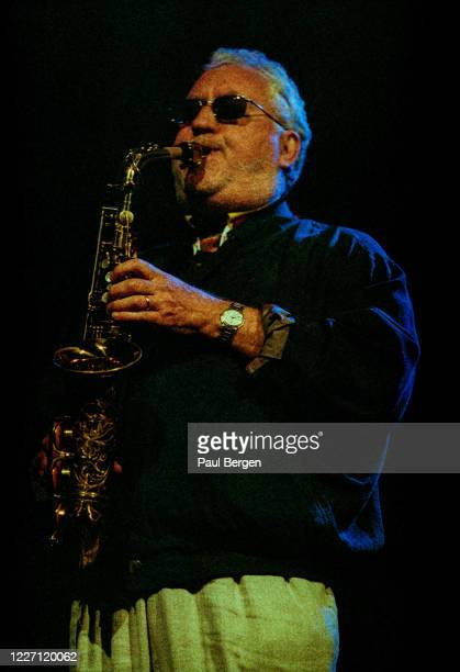American saxophonist Lee Konitz performs on stage at North Sea Jazz Festival The Hague Netherlands 10th July 1998