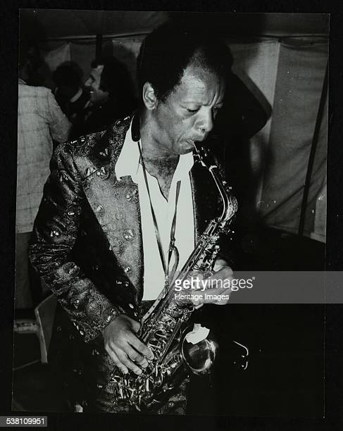 American saxophonist Ornette Coleman playing at the Bracknell Jazz Festival Berkshire 1978 Artist Denis Williams