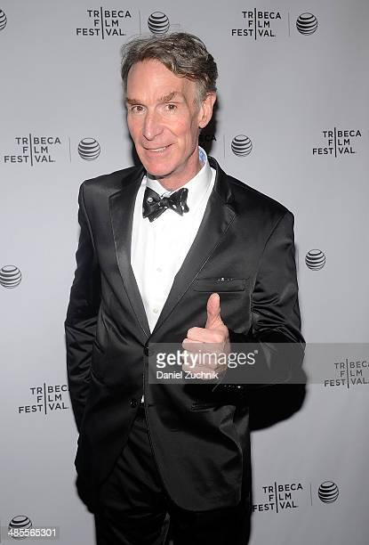 American science educator Bill Nye attends An Honest Liar Premiere during the 2014 Tribeca Film Festival at SVA Theater on April 18 2014 in New York...