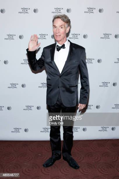 American science educator Bill Nye attends the 'An Honest Liar' Premiere during the 2014 Tribeca Film Festival at Chelsea Bow Tie Cinemas on April 18...