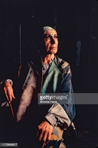 American sculptor Louise Nevelson in her SoHo studio New York New York 1979
