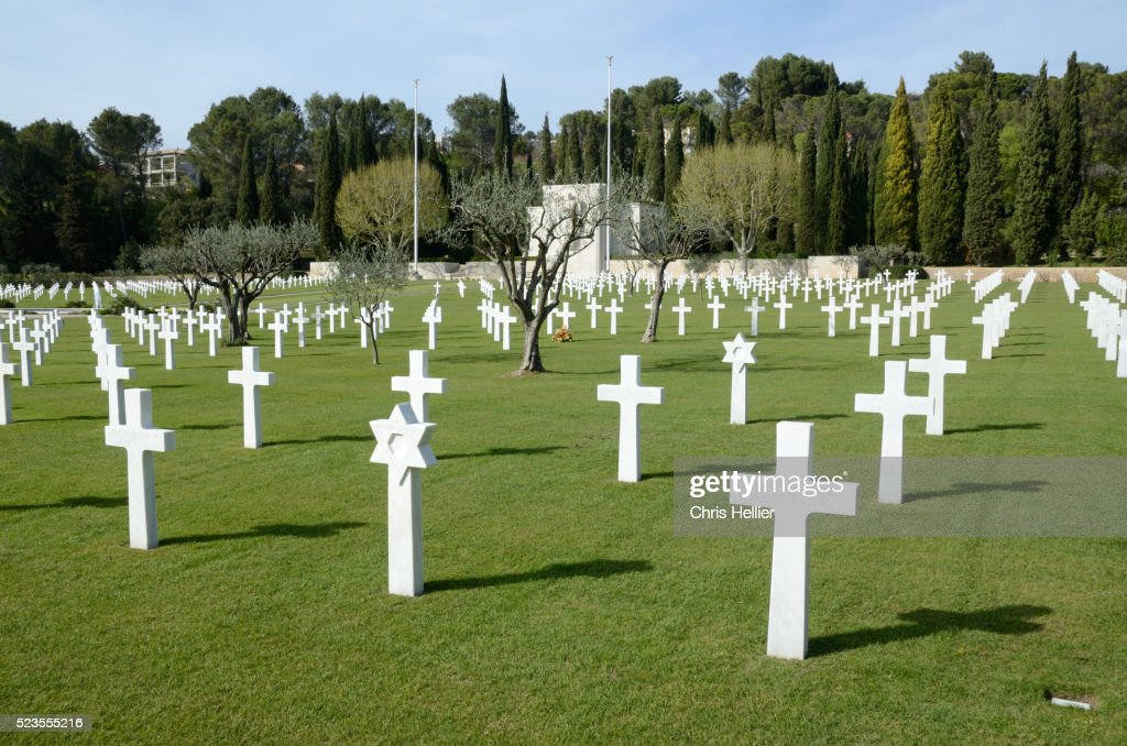 American Second World War Memorial Cemetery Draguignan France : Stock-Foto