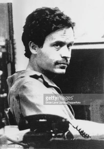 American serial killer Ted Bundy at the Leon County sheriff's office in Florida, shortly after after his arrest on a charge of theft, 19th February...