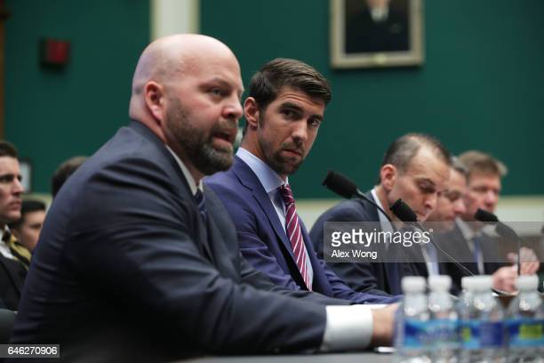 American shot putter and Olympic gold medalist Adam Nelson American swimmer and Olympic gold medalist Michael Phelps CEO of the United States...