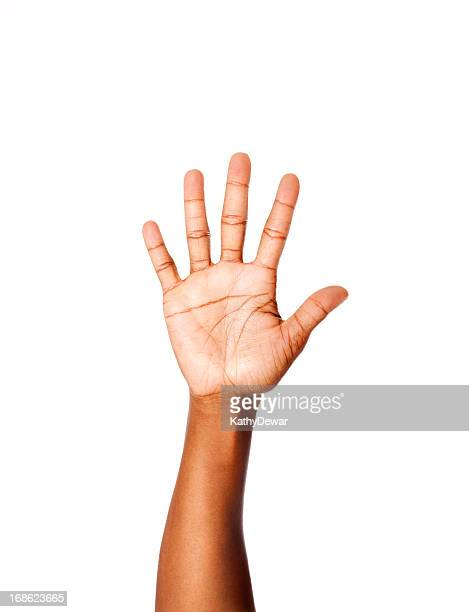 american sign language number five - linguistics stock pictures, royalty-free photos & images