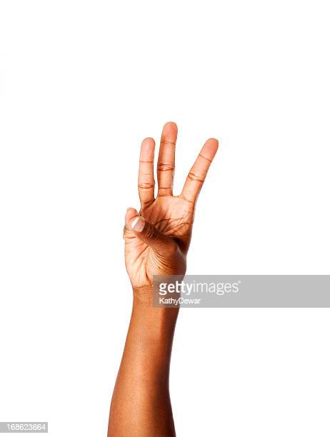 American Sign Language Number Six