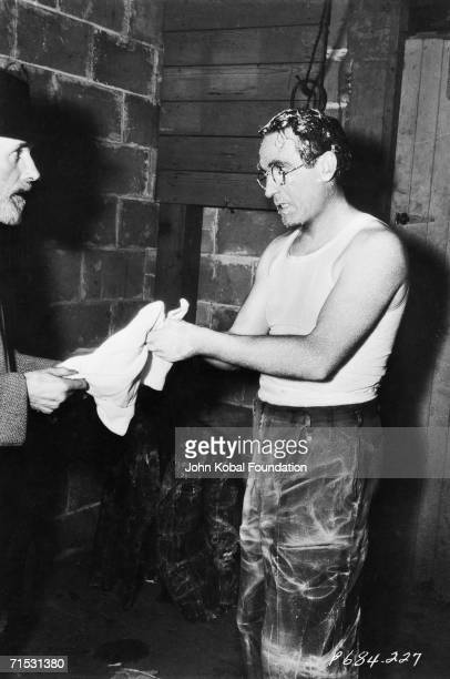 American silent era comedian Harold Lloyd finds filmmaking a messy business on the set of the Paramount comedy 'Professor Beware' 1938