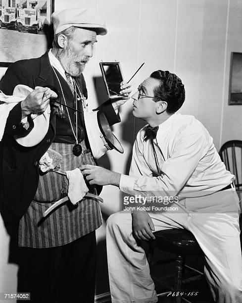 American silent era comedian Harold Lloyd on the set of 'The Milky Way' 1936