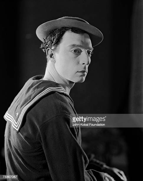 American silent film comic actor and filmmaker Buster Keaton in publicity still for his film 'The Navigator', directed by Keaton and Donald Crisp,...