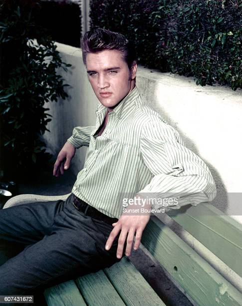 American singer actor and icon Elvis Presley promoting the movie Love me tender directed by Robert D Webb