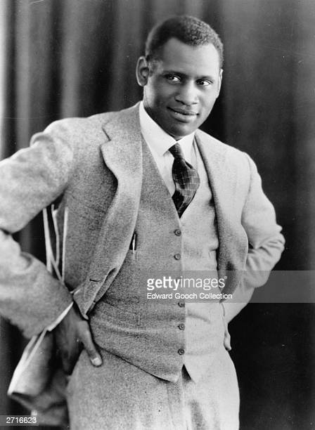 American singer actor and political activist Paul Robeson