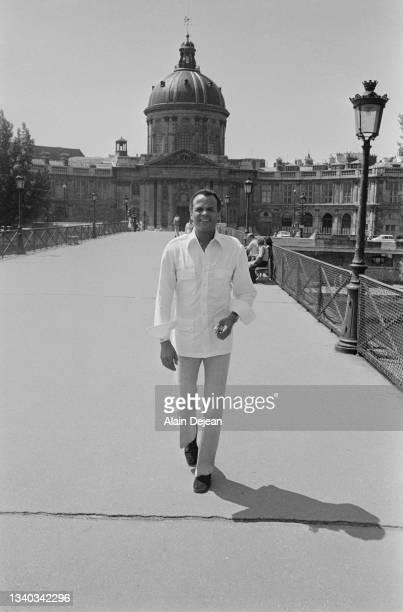 American singer actor and social activist Harry Belafonte in Paris.