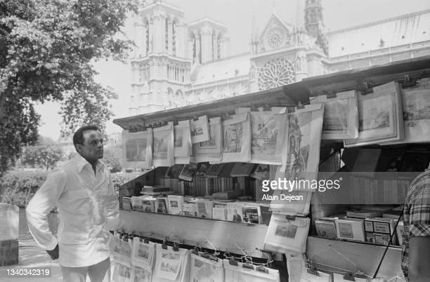 American singer actor and social activist Harry Belafonte near Notre Dame, Paris.