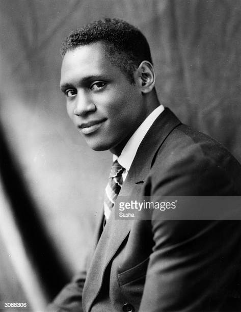 American singer actor athlete and civil rights activist Paul Robeson