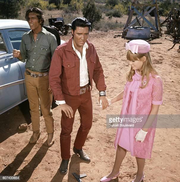 American singer actor Elvis Presley and actress Quentin Dean in Stay Away Joe directed by Peter Tewksbury