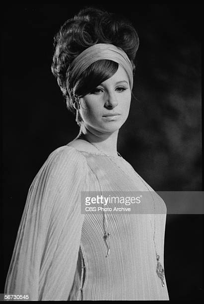 American singer, actress, and entertainer Barbra Streisand performs at a concert in Central Park which was filmed for television as 'A Happening in...