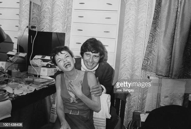 American singer actress and vaudevillian Judy Garland with her fiance American musician and entrepreneur Mickey Deans after announcing their marriage...