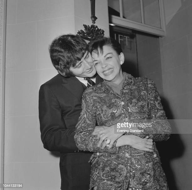 American singer actress dancer and vaudevillian Judy Garland with her fiance American musician and entrepreneur Mickey Deans UK 3rd January 1968