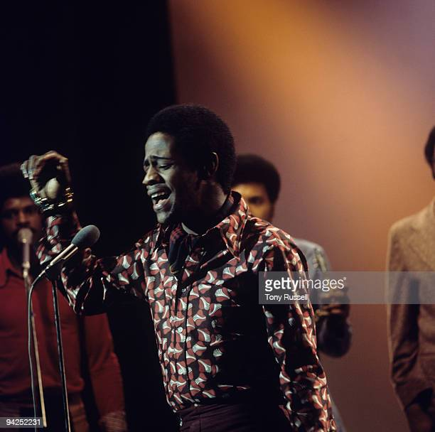 American singer Al Green performs on a BBC television show in 1973.