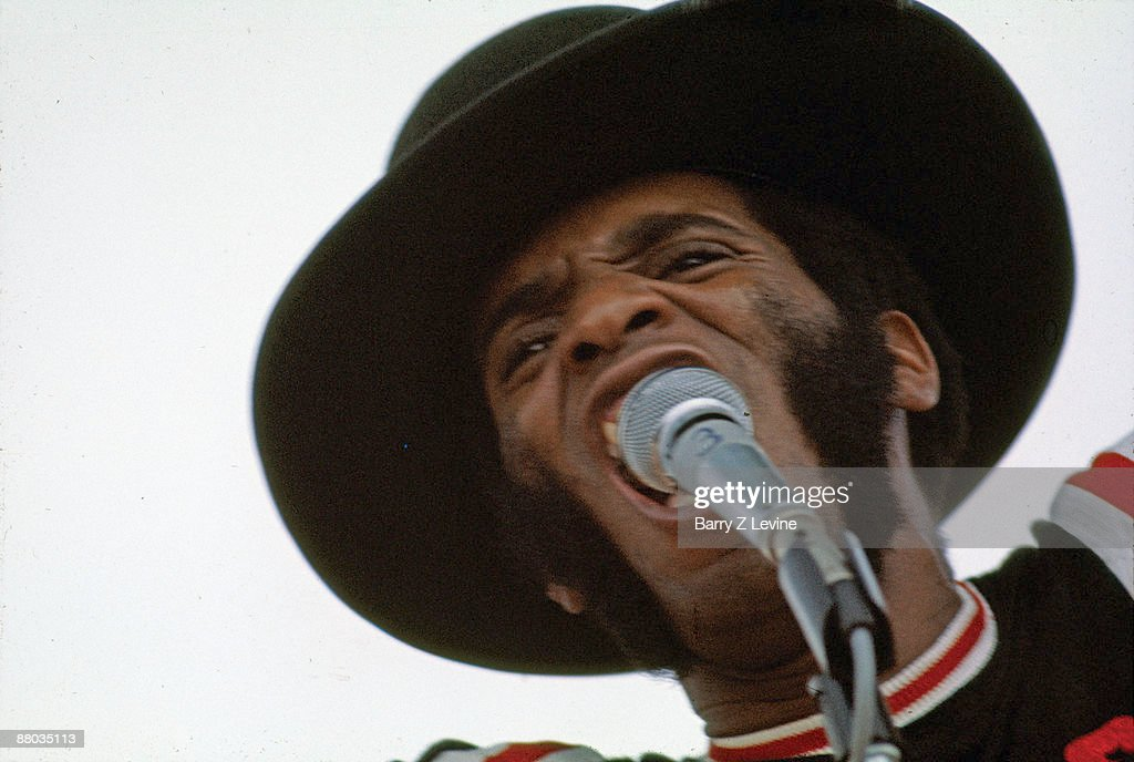 American singer Albert Moore (? - 1994) of the band Sweetwater performs onstage at the Woodstock Music and Arts Fair in Bethel, New York, August 15, 1969.