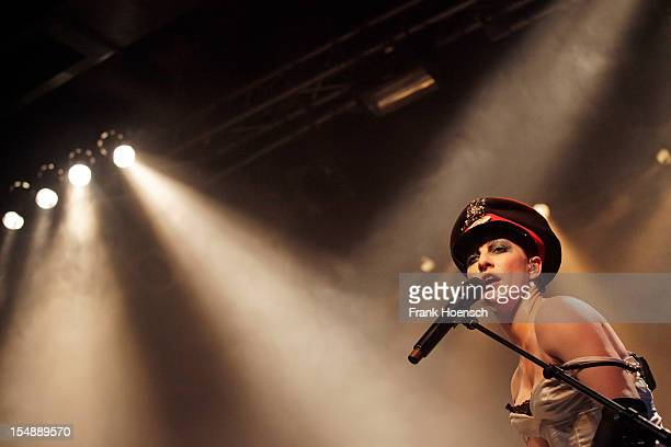 American singer Amanda Palmer performs live during a concert at the CClub on October 28 2012 in Berlin Germany