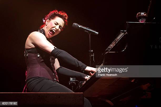 American singer Amanda Palmer performs live during a concert at the Huxleys on November 1 2016 in Berlin Germany