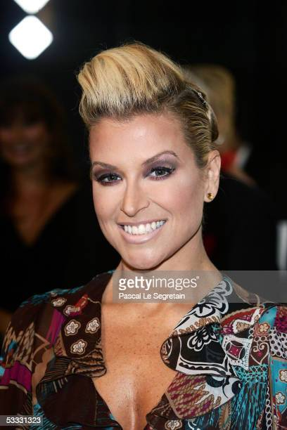 American Singer Anastacia arrives at the Red Cross Ball on August 5 2005 in Monte Carlo Monaco