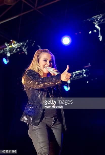 American singer Anastacia performs live during the rs2 Summer Festival at the Kindlbuehne Wuhlheide on August 16 2014 in Berlin Germany