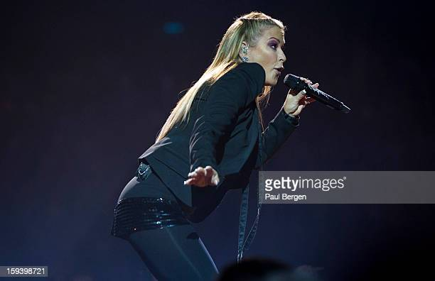 American singer Anastacia performs on stage at Night of the Proms accompanied by the Il Novecento Orchestra at Ahoy Rotterdam Netherlands 23 November...
