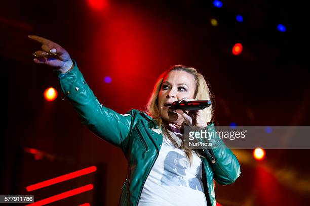 American singer Anastacia performs with his quotUltimate Collection World Tourquot in Turin Italy on July 19 2016