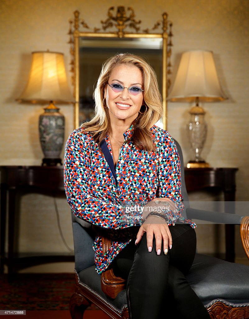 American singer Anastacia poses during a photo shoot at the Stamford Hotel on April 28, 2015 in Sydney, Australia.