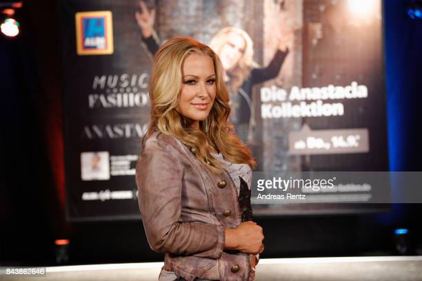 American singer Anastacia poses for a portrait prior to the ALDI SUED x Anastacia collection launch 'Music loves Fashion' at EWerk on September 7...