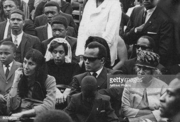 American singer and activist Harry Belafonte at the funeral of assassinated American civil rights leader Martin Luther King Jr Atlanta Georgia 9th...