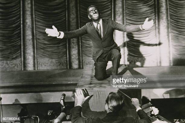 American singer and actor Al Jolson on the set of The Jazz Singer directed by Alan Crosland