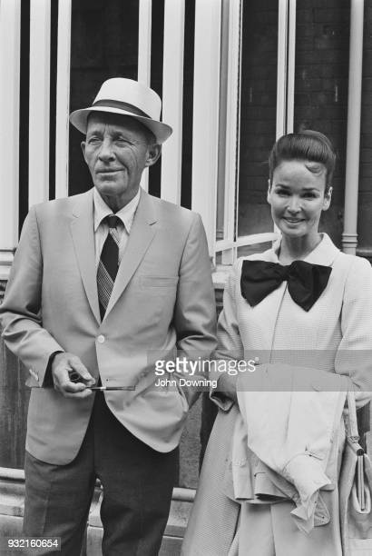American singer and actor Bing Crosby with his wife American actress and singer Kathryn Crosby in London UK 19th August 1968