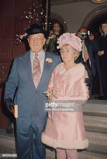 American singer and actor Burl Ives marries Dorothy Koster Paul at a wedding ceremony in Caxton Hall London on 16th April 1971