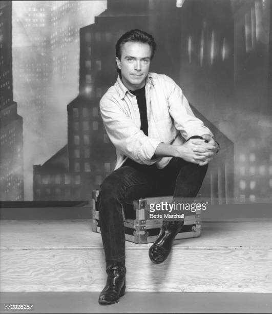 American singer and actor David Cassidy during the Broadway run of Willy Russell's musical 'Blood Brothers' in which he starred at the Music Box...