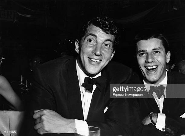 American singer and actor Dean Martin left with his onetime partner American comic actor Jerry Lewis