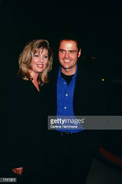American singer and actor Donny Osmond and wife Debbie attend the premiere of the film 'Meet Joe Black' at the Academy Theatre in Los Angeles...