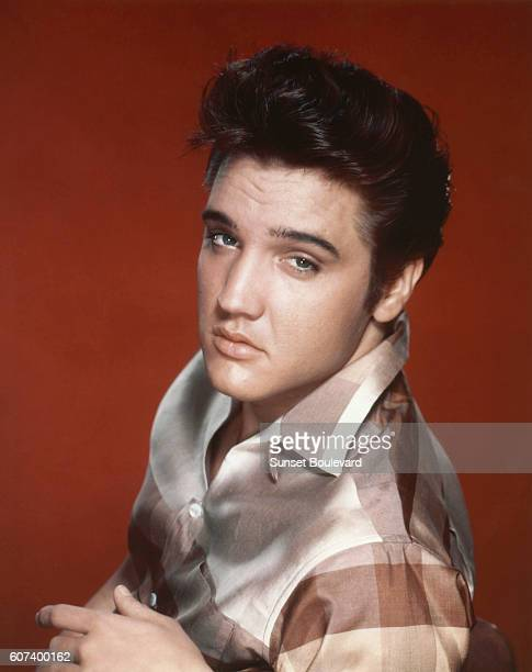 American singer and actor Elvis Presley on the set of Jailhouse Rock directed by Richard Thorpe