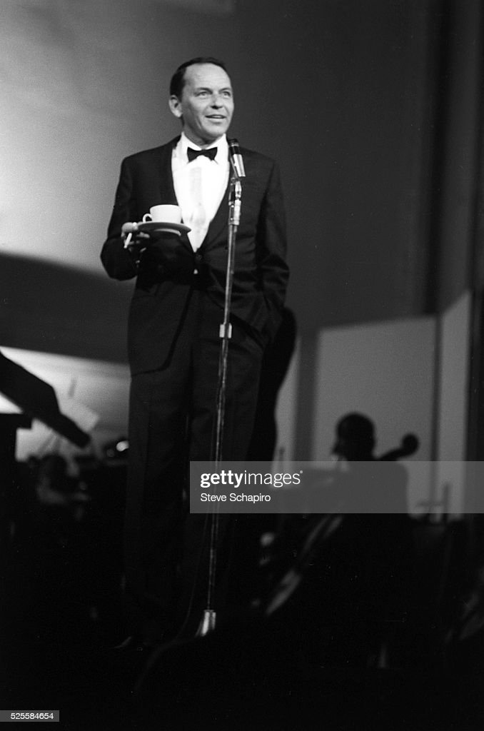 Frank Sinatra performing at a party thrown by Lean Horne to honor Dr. Martin Luther King, Jr.
