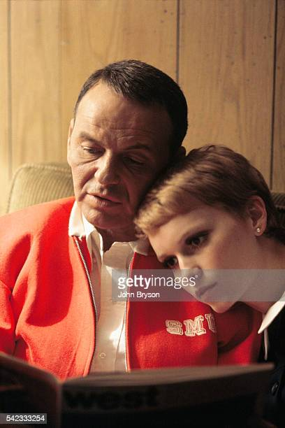 American singer and actor Frank Sinatra with his wife actress Mia Farrow